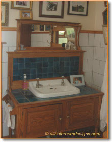 vintage bathroom vanity
