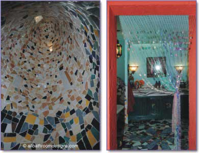 mosaics in shower