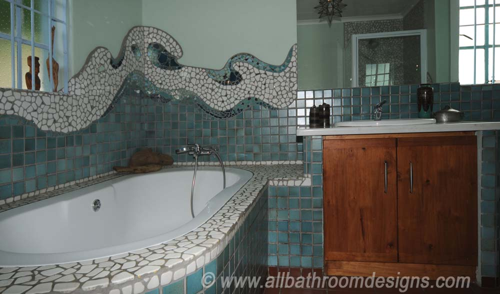 creative mosaics in a bathroom