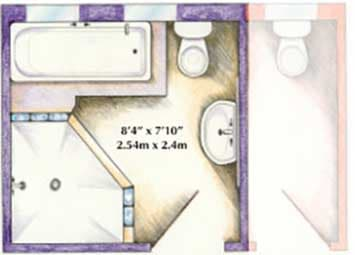 bathroom floorplans