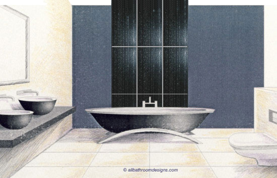 Black And White Tile Bathroom. bathroom tile layout