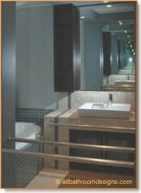 bathroom design with mosaic