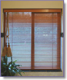 wooden bathroom blinds