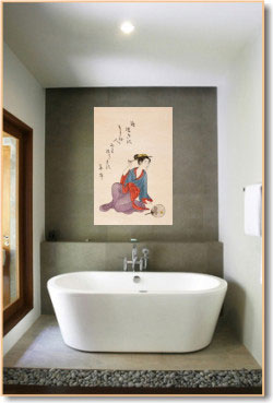 Japanese bathroom design interior decorating accessories - Oriental bathroom decor ...