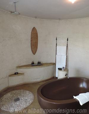 wet area in bathroom