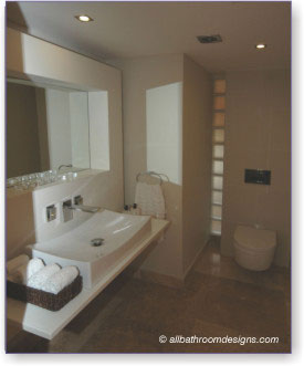 Small Bathroom on Even In A Small Bathroom   This Uncluttered Look Can Be Achieved  For