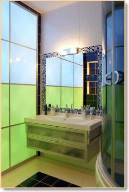 colored glass panels