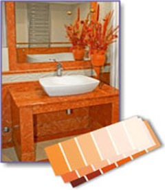 orange bathroom colors