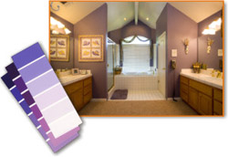 purple colors for bathrooms