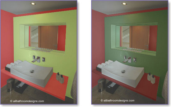 Red And Green Bathroom Design Ideas ~ Red bathroom design and decor inspiration