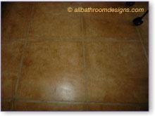rustic bathroom flooring