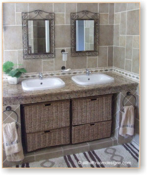 How about a log cabin wall in your bathroom Rustic is all about a natural Rustic