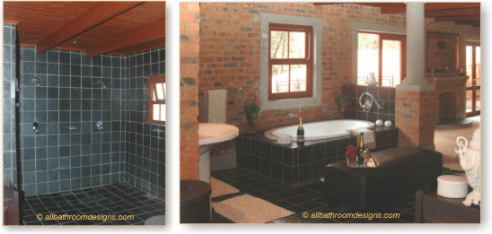 master rustic bathroom