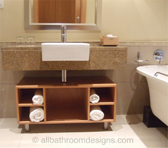 Bathroom Design Small Space on The Advantage Of Small Bathroom Designs Is That You Can Really