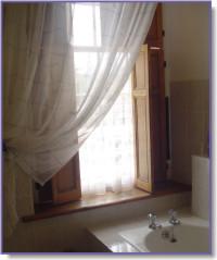 lace bathroom curtains