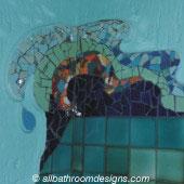 bathroom mosaic decor