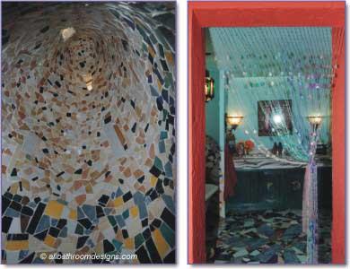mosaics in shower