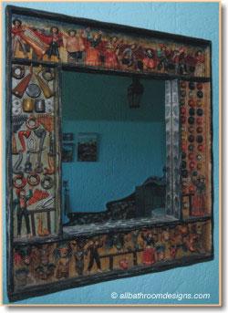 bathroom mirror from Peru