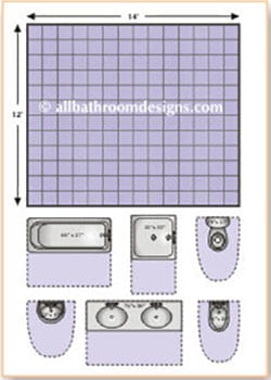 Bathroom layouts made easy for Bathroom templates for planning