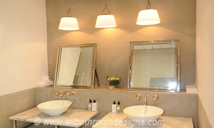pendant lights above vanity