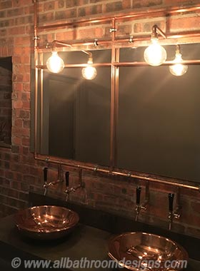 copper piping lighting design
