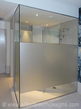 shower within the bedroom