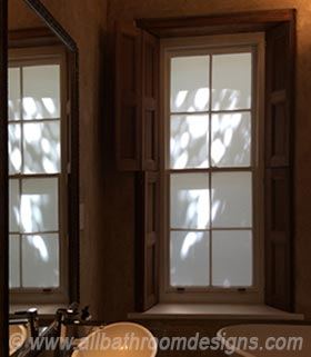 external frosted windows in bathroom
