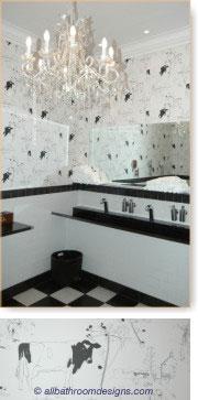 black bathroom decorating