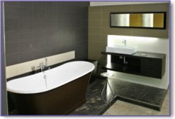 black bathroom colors