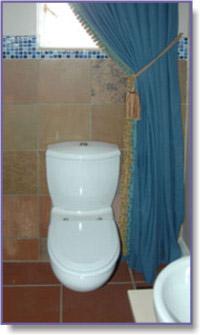 velvet curtains in bathroom