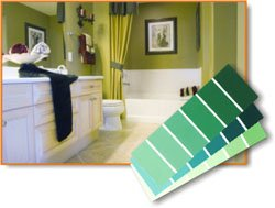 green bathroom colors