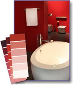 red bathroom colors