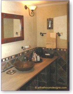 small rustic bathroom