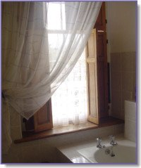 lace bathroom curtains