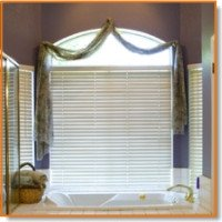 bathroom window drapes
