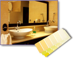 Ideas for a 1950 s yellow bathroom on Pinterest   Yellow Black  Yellow