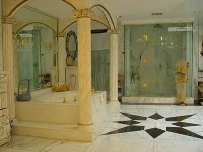 Luxury Marble Bathroom. This luxury bathroom is unashamedly opulent